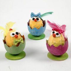 Easter Chicks in Egg Shells