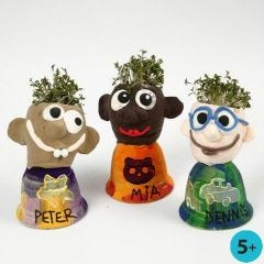 Silk Clay Heads modelled onto Bells