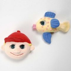 Magnets with Silk Clay and big Eyes with Eyelashes
