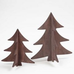 Painted Wooden 3D Christmas Trees