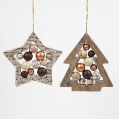 Star and Christmas Tree-shaped Frames with Polystyrene Balls