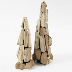A Tree made from Small Pieces of Wood on a Cone