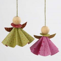 Angels made from Vivi Gade Origami Paper