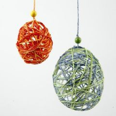 Eggs made from wound Paper Yarn