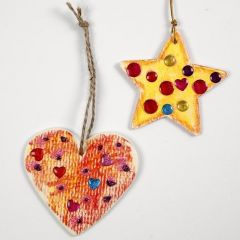Painted and decorated Wooden Hanging Decorations
