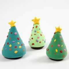 A Christmas Tree with Silk Clay Christmas Decorations