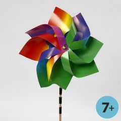 A Windmill made from Rainbow Card