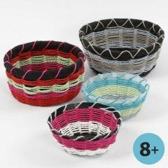 A Basket made on a Basket Weaving Template