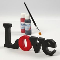 """A painted and varnished decorative Word - """"Love"""""""