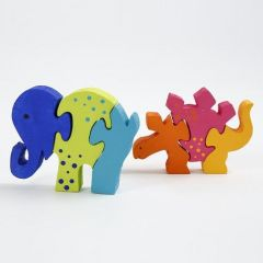 An animal-shaped wooden Jigsaw Puzzle