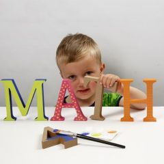 Painted wooden Letters decorated with Patterns