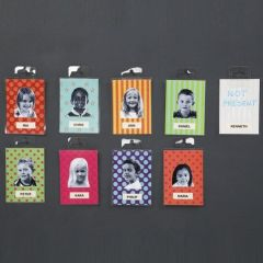 Laminated Glazed Paper as Name Badges with a Photo
