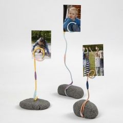 A Photo Holder made from Stone Clay, Aluminium Wire & Floral Tape