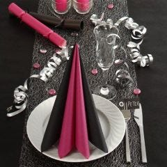 Black and pink Table Decorations