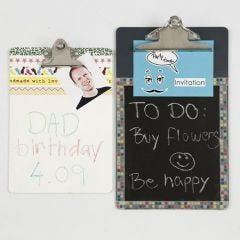 A Memo Holder with Blackboard Paint & Masking Tape