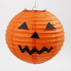 A Rice Paper Lamp as a Pumpkin for Halloween