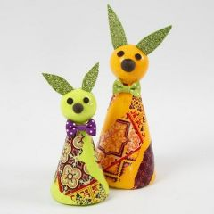 An Easter Bunny made from a Cone Body with Decoupage