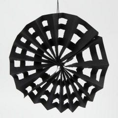 A Spider's Web made from black Kraft Paper