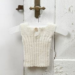 13936 Knitting for the Baby – a Vest made from soft Merino Wool Baby Yarn