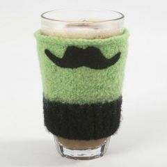 A Cup Cosy made from knitted and felted Wool