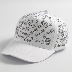 Black Textile Decoration on a white Cap