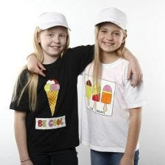 T-Shirts with Ice Cream Designs made with Fabric Paint