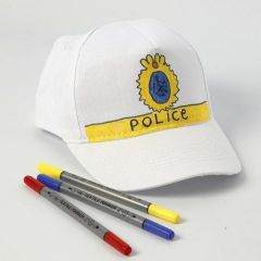 A Cap with a Police Symbol