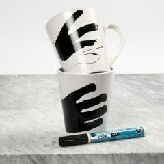 A Mug with a Marker Drawing