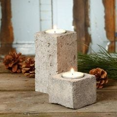 Tea Light Candle Holders cast from Concrete