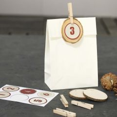 Decorated Paper Bags for Advent Calendar Presents