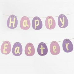 Card Eggs and Letters Bunting