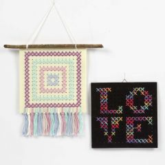 A Cross-stitch Picture on Craft Felt with Holes