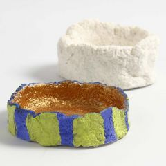 A small Bowl modelled from Papier-mâché Pulp