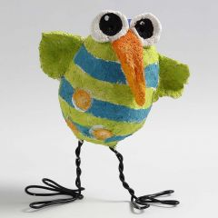 A Chick made from a Polystyrene Egg covered with Pulp and with Bonsai Wire Feet