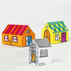 A decorated assembled Card House