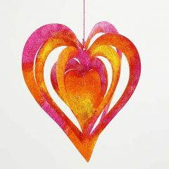 A Card hanging Decoration, painted with Glitter Paint