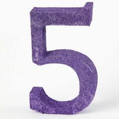 A Table Number painted and decorated with Glitter