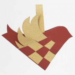 A woven Bird with a Handle