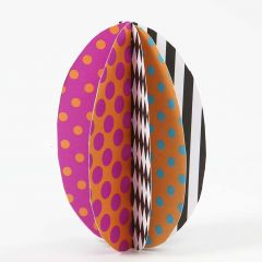 An Egg made from patterned Card