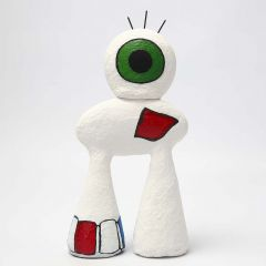 An abstract Figure made from Polystyrene with Papier-mâché Pulp