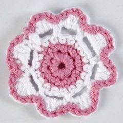 A crocheted Flower
