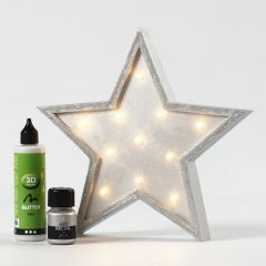 A star-shaped painted Light Box