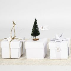 A folded decorated Box