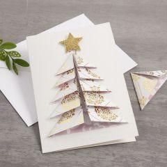 A Christmas Card with a 3D Christmas Tree from Vivi Gade Design Paper