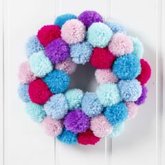 A Pom-pom Wreath