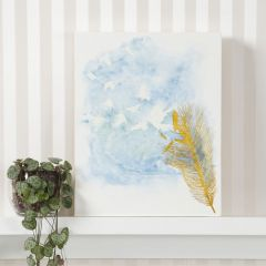 A pre-printed Canvas painted with Watercolours and Water in a Spray Bottle