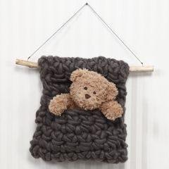 A crocheted Wall Hanging in XL Manga Yarn