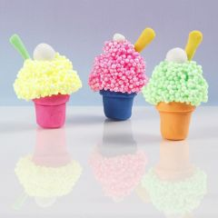 A Muffin Ice Cream from Soft Foam and Modelling Clay