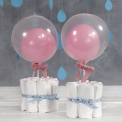 Nappy Table Decorations for a Baby Shower