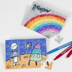 Jigsaw puzzles for Colouring in and Decorating